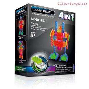 Светодиодный конструктор 4 в 1 Laser Pegs Роботы 4 в 1, серия MPS