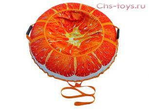 Тюбинг Дизайн Сочный апельсин 110см
