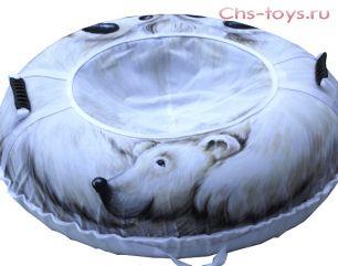 Тюбинг Дизайн Белый медведь 95см