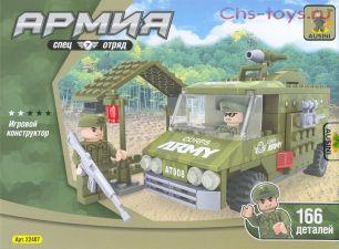 "Конструктор Ausini серия Армия ""Армейский грузовик"" 166 дет."