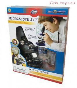 """Серия """"Познай мир""""   21332 Микроскоп (набор, 33 предмета, черный)"""